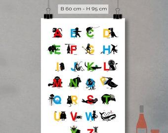 Alphabet Posters-the alphabet of Animals (60 x 90cm)