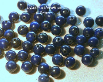 Pearl of Lapiz Lazuli ø8mm * to the unit *.