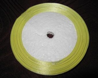 yellow satin ribbon 6.7 mm roll of 23 meters, satin yellow ribbon