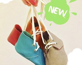Leather slippers - Handmade