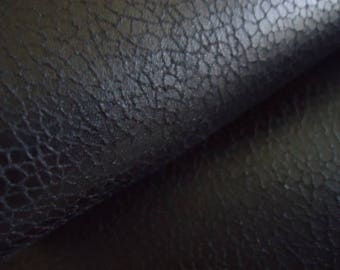 Faux leather black fabric-
