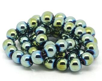 1 row of Perle Hematite Gold 8 mm