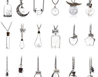 To customize a set of 18 glass within 15 days pendant necklaces