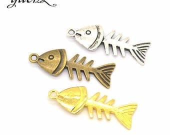 5 charm pendant fish 26 x 12 mm within 15 days
