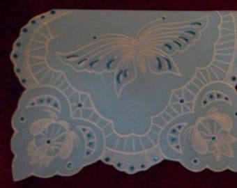 card any occasion in pergamano customizable Butterfly pattern