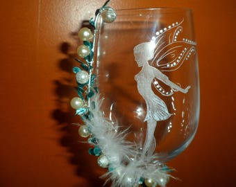 glass etching on glass for sweets fairy footed