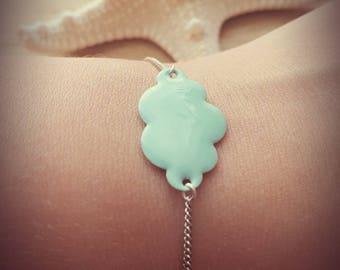 """Bracelet """"head in clouds"""" sea green"""