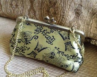 Chinese brocade hand clutch