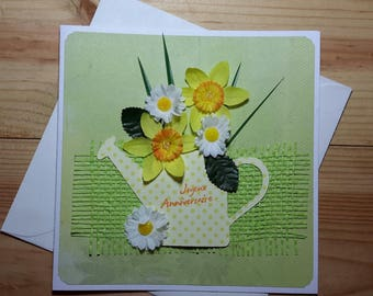 Bucolic, flowery birthday card