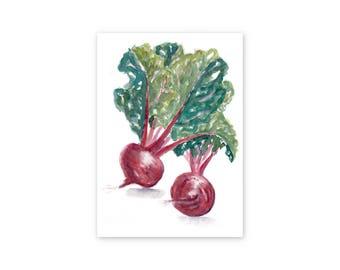 Beet Print || Beet Painting || Watercolor Print || Home Decor || Kitchen Art || Culinary Art || Fine Art Print || Vegetable Print