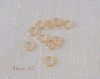 Open rings 6 X 0.70 mm - 14K gold plated
