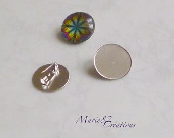 For Cabochon 20 mm - stainless steel pin