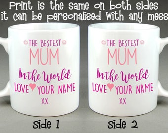 The Bestest Mum (or Mummy) in the World Personalised Mug Mother's Day Gift