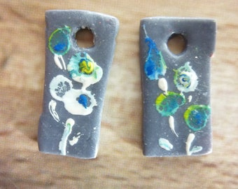 Charms for creation of polymer clay earrings
