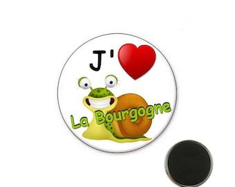Burgundy - Burgundy size 32 mm magnet