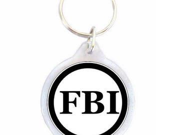 FBI - FBI white keychain