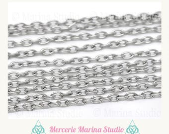 5 m chain stainless steel mesh convict 3X2.5mm