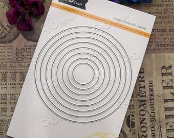 Dies/die cut framelits sizzix circle 8 pieces