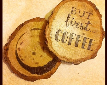 Custom coffee coasters