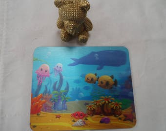 3D theme sea mouse and computer mouse pad
