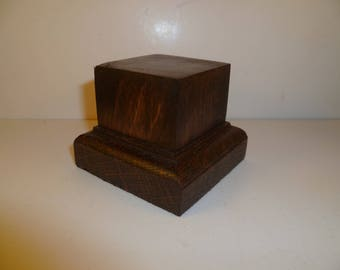 Made with beech and oak schc1 for figurines square wood base