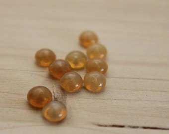 10 small round stud earrings 6 mm caramel Opal No. 2