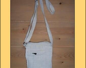 "Nice ""White"" organic fabric clutch bag"