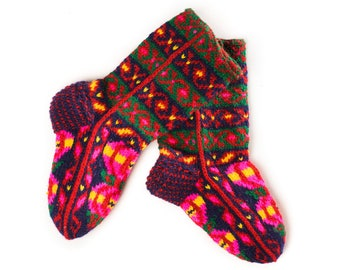 Wool Socks hand knitted ethnic