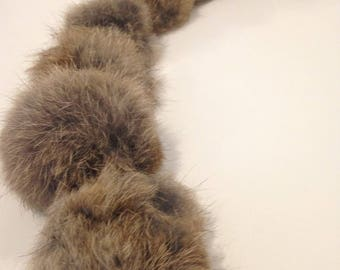 Chocolate 84 cm Brown rabbit fur