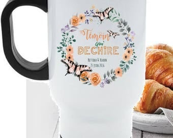 """PERSONALIZED travel MUG """"witness that tears"""""""
