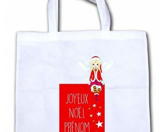 "PERSONALIZED tote bag/tote bag ""Fairy Christmas"""