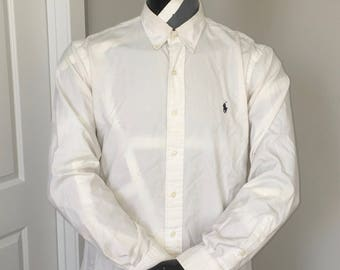 Polo Ralph Lauren-Oxford Long Sleeve Button Down-White