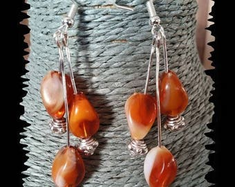 Dangle earrings 3 color amber