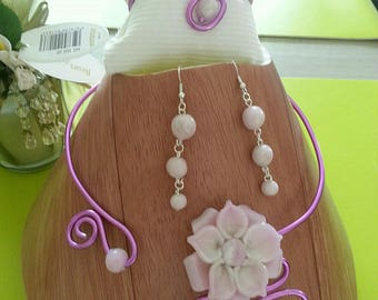 Set complete necklace earrings and bracelets