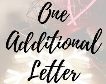 One additional letter/ expedited processing/ add ons