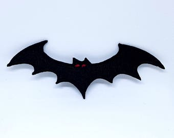 2085# BLACK BAT With Red Eyes Iron Sew On Patch Emo Goth Punk Rock