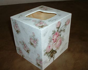 """Box tissue wooden """"love of roses"""""""