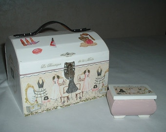 "Handmade sewing ""fashion shop"" box"