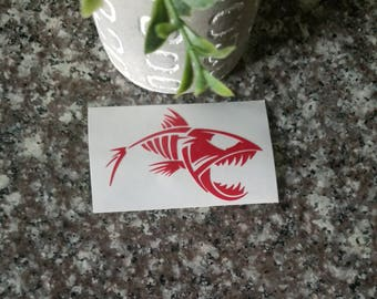 Bone Fish Decal/Fish Decal/Fishing Decal/Dad Sticker/Grandpa Decal/Yeti Decal/Car Decal/Laptop Decal/Cooler Decal/Toolbox Decal