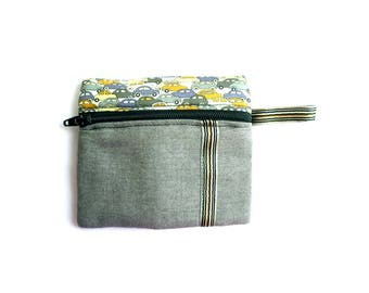 Boy Cars liberty fabric and matching fabric wallet