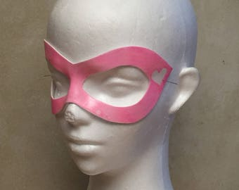 Pink Harley Quinn Mask with White Heart