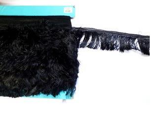 Black Lace fringe polyester width 5 cm