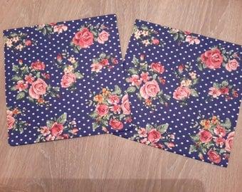 Set of 2 flowers paper napkins