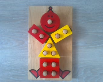 Games educational clown colors and shapes for children