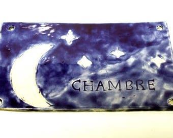 Door plate, ceramic