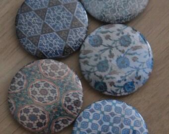 "Set of 5 mini magnets assorted theme ""Eastern Mosaic 2"""
