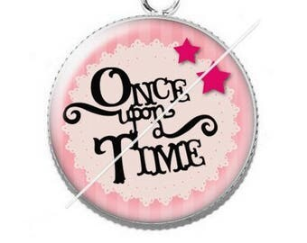 Pendentif cabochon 25mm once upon a time 8