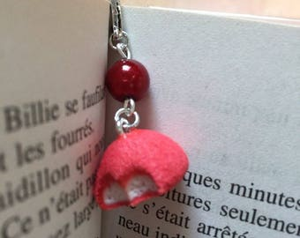 Strawberry candy silver bookmark