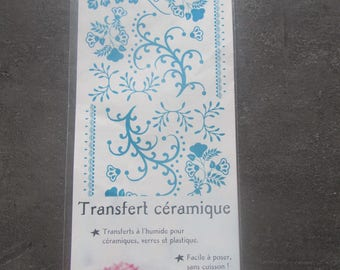 Set of table - transfer wet for ceramics, glass and plastic