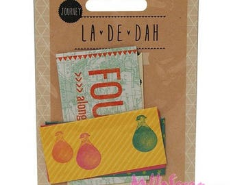 "Set of 5 small pockets adhesive ""La-Dah"" decor scrapbooking (ref.110). *."